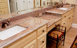 An image of a kitchen with Super Classico Granite Countertops.