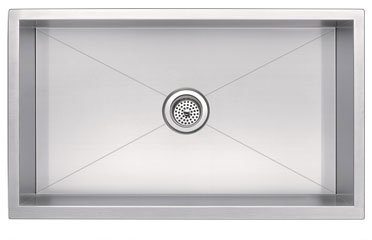Zero Radius Single Bowl Undermount Sink