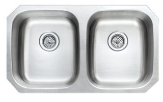 18ga 50-50 Stainless Steel Kitchen Sink