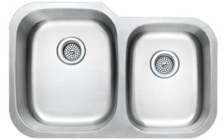 60/40 Stainless Steel Kitchen Sink