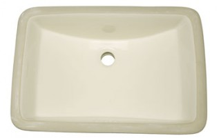 Bisque Rectangle Vanity Undermount Sink
