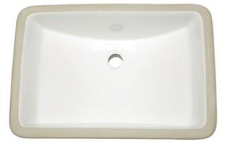 White Rectangle Vanity Undermount Sink
