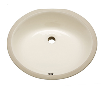 Bisque Oval Vanity Undermount Sink