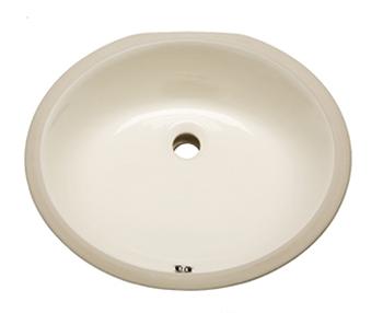 Elegant Bisque Oval Vanity Undermount Sink