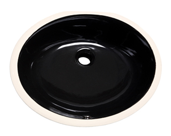 Black Oval Vanity Undermount Sink
