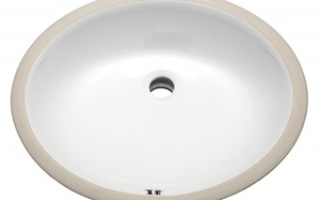 Bisque Oval Vanity Undermount Sink