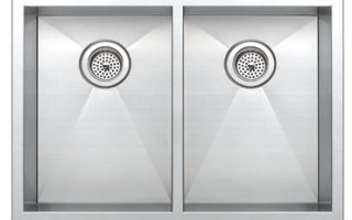 Zero Radius Double Bowl Sink
