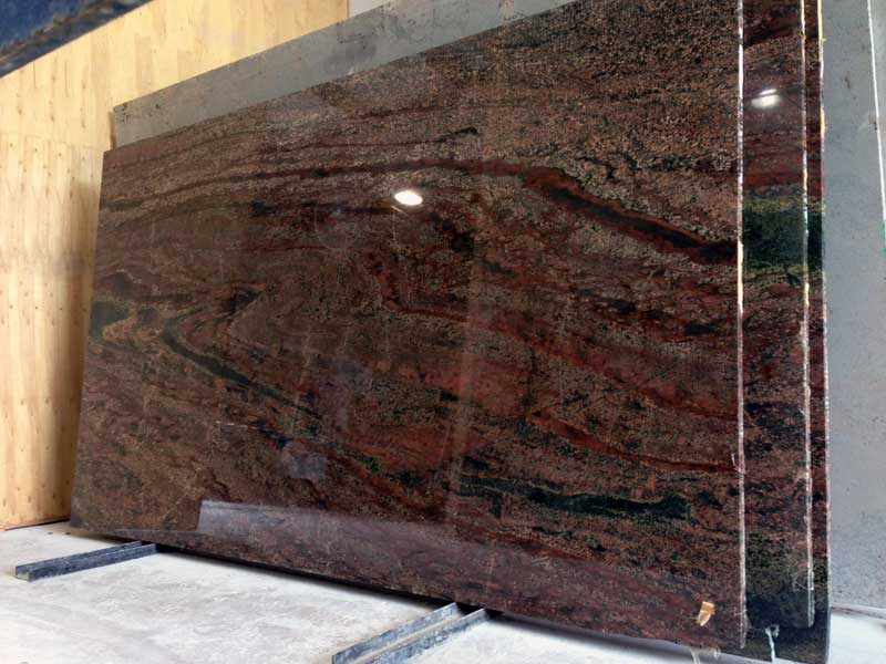 Verde Fire Granite Slab
