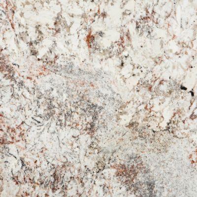 White Spring Granite - Cream Meets Grays and Red Blush