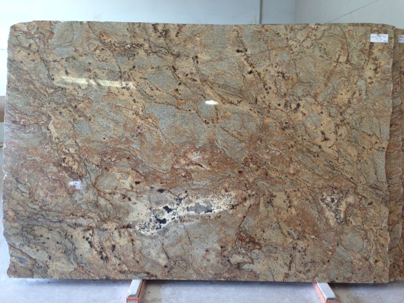 Crystalline Stone Slabs : Golden crystal granite slabs