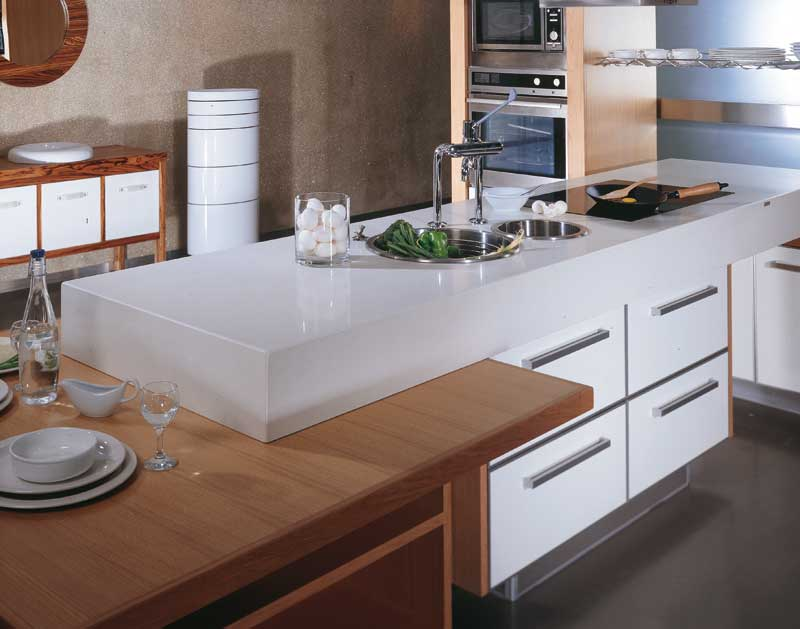 Caesarstone Blizzard Kitchen Countertops