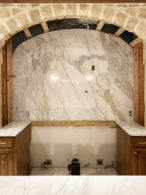 Full-Height Calacatta Arabescato Marble