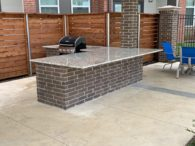 This 3CM Dallas White Granite Outdoor Grill was a Commercial Project.