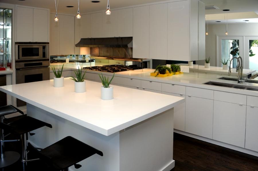 Pure White Caeserstone Kitchen